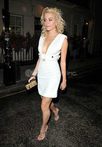 Victoria Louise &quot;Pixie&quot; Lott departs from the stage door after the &quot;Breakfast at Tiffany's&quot; evening performance, Theatre Royal Haymar ket, Suffolk Street, London, England, UK, on Friday 29 July 2016.<br /> CAP/CAN/MediaPunch ***USA and South America Only***