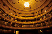 Bratislava, Slovakia. Interior of the National Theatre; boxes.