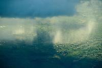 CHAD, aerial view , landscape with raining clouds near N´djamena, / TSCHAD , Luftaufnahme, Regenwolken ueber Landschaft