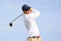 Alexander Wilson (Portmarnock) on the 9th tee during Round 2 of The East of Ireland Amateur Open Championship in Co. Louth Golf Club, Baltray on Sunday 2nd June 2019.<br /> <br /> Picture:  Thos Caffrey / www.golffile.ie<br /> <br /> All photos usage must carry mandatory copyright credit (© Golffile | Thos Caffrey)