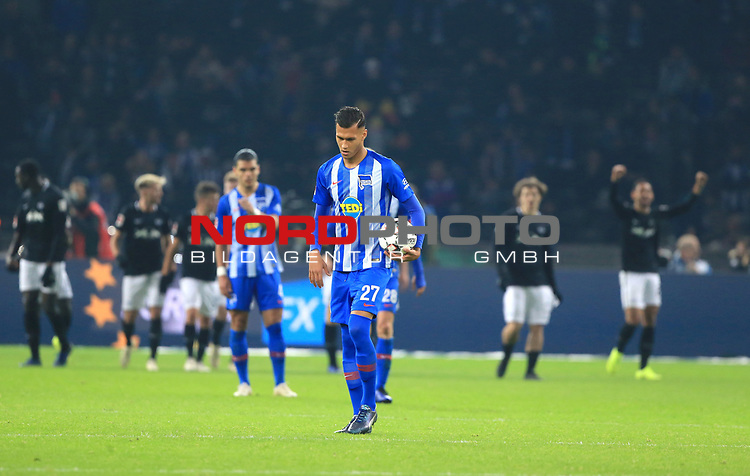 03.11.2018, OLympiastadion, Berlin, GER, DFL, 1.FBL, Hertha BSC VS. RB Leipzig, <br /> DFL  regulations prohibit any use of photographs as image sequences and/or quasi-video<br /> <br /> im Bild Davie Selke (Hertha BSC Berlin #27)<br /> <br />       <br /> Foto &copy; nordphoto / Engler