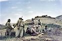 Iraq 1983 <br /> In Haj Omran, peshmergas of KDP resting near the deserted bunkers of the Iraqi army <br /> Irak 1983 <br /> A Haj Omran, peshmergas du PDK se reposant pres d'un abri abandonne par l'armee irakienne
