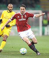 FUSSBALL   CHAMPIONS LEAGUE   SAISON 2011/2012     15.02.2012 AC Mailand - Arsenal London Mark Van Bommel (AC Mailand)