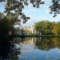 A view of the Chinese Palace built for Catherine the Great by Antonio Rinaldi