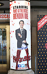Theatre Marquee for 'Panic! at The Disco's' Brendon Urie makes his broadway debut as 'Charlie Price' in 'Kinky Boots' on Broadway at The Al Hirschfeld Theatre on June 4, 2017 in New York City.