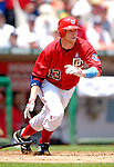 18 June 2006: Robert Fick, catcher for the Washington Nationals, in action against the New York Yankees at RFK Stadium, in Washington, DC. The Nationals defeated the Yankees 3-2 in the third game of the interleague series...Mandatory Photo Credit: Ed Wolfstein Photo...
