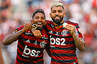 Rodinei and Gabriel Barbosa Gabigol celebrate wins after the 2019 Copa Libertadores Final between Flamengo of Brazil and River Plate of Argentina at Estadio Monumental U in Lima, Peru on 23 Nov 2019. PUBLICATIONxNOTxINxBRA<br /> Photo Imago/Insidefoto