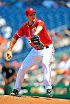 7 June 2009: Washington Nationals' pitcher Craig Stammen on the mound against the New York Mets at Nationals Park in Washington, DC. The Mets shut out the Nationals 7-0, to take the third game of the weekend series. Mandatory Credit: Ed Wolfstein Photo