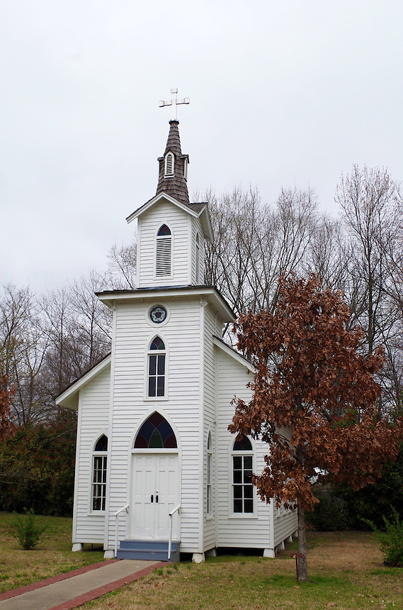 Restored Lutheran Church at the Museum of the Arkansas Grand Prairie in Stuttgart, Arkansas