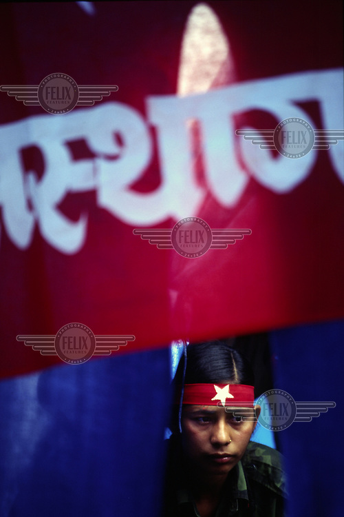 A female Maoist fighter, Dolakha district, Nepal.