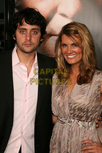 "BEN GLEIBERMAN & COURTNEY HANSEN.""Fracture"" Los Angeles Premiere at Mann's Village Theatre, Westwood, California, USA..April 11th, 2007.half length pink beige dress pattern shirt .CAP/ADM/BP.©Byron Purvis/AdMedia/Capital Pictures"