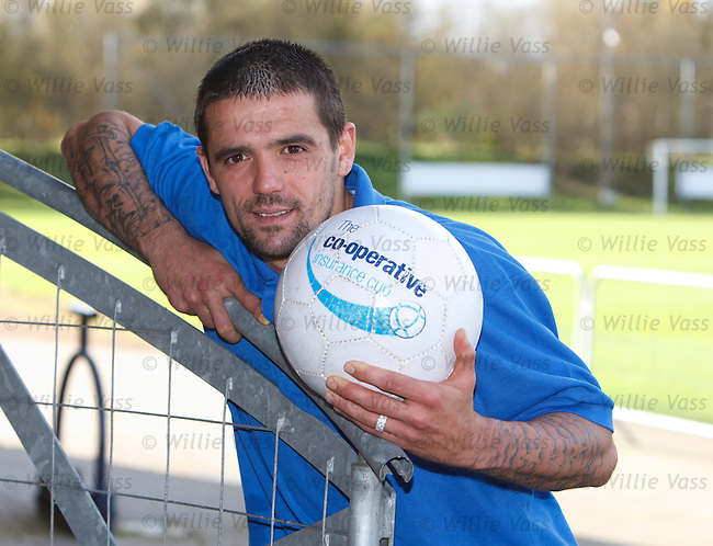 Nacho Novo propmotes the Co-Operative Insurance Cup tie away to Dundee