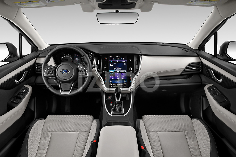 Stock photo of straight dashboard view of 2020 Subaru Outback Premium 5 Door Wagon Dashboard