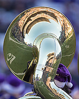 The Husky Band's halftime holiday show meant that for once, the sousaphones didn't need to wear those silly berets.