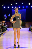Rad, New Zealand Eco Fashion Exposed, Eco Designer Runway at Notre Dame Performing Arts Centre, Lower Hutt, New Zealand on Saturday 26 July 2014. <br /> Photo by Masanori Udagawa. <br /> www.photowellington.photoshelter.com.