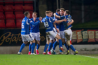 12th February 2020; McDairmid Park, Perth, Perth and Kinross, Scotland; Scottish Premiership Football, St Johnstone versus Motherwell; St Johnstone celebrate Chris Kane's 92nd minute winner