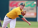 SIOUX FALLS, SD - MAY 24:  Reed Pfannenstein #29 from NDSU delivers the first pitch against Western Illinois in the 2014 Summit League Baseball Championship game Saturday afternoon at the Sioux Falls Stadium. (Photo by Dave Eggen/Inertia)
