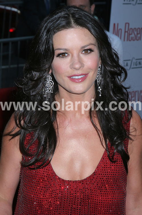 **ALL ROUND PICTURES FROM SOLARPIX.COM**.**SYNDICATION RIGHTS FOR UK, SPAIN, PORTUGAL, AUSTRALIA, S.AFRICA & DUBAI (U.A.E) ONLY**.The film premiere of No Reservations yesturday in New York at the Ziegfeld Theater with Catherine Zeta Jones and Aaron Eckhart in New York city in the U.S.A.the event held on the 25_07_07..This pic:CATHERINE ZETA JONES.JOB REF:4384-PHZ    DATE:25_07_07 .**MUST CREDIT SOLARPIX.COM OR DOUBLE FEE WILL BE CHARGED* *UNDER NO CIRCUMSTANCES IS THIS IMAGE TO BE REPRODUCED FOR ANY ONLINE EDITION WITHOUT PRIOR PERMISSION*