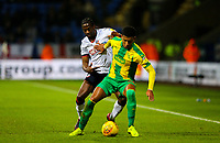 Bolton Wanderers' Clayton Donaldson takes on West Bromwich Albion's Mason Holgate<br /> <br /> Photographer Alex Dodd/CameraSport<br /> <br /> The EFL Sky Bet Championship - Bolton Wanderers v West Bromwich Albion - Monday 21st January 2019 - University of Bolton Stadium - Bolton<br /> <br /> World Copyright © 2019 CameraSport. All rights reserved. 43 Linden Ave. Countesthorpe. Leicester. England. LE8 5PG - Tel: +44 (0) 116 277 4147 - admin@camerasport.com - www.camerasport.com