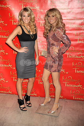 Carrie Underwood at the unveiling of her wax figure at Madame Tussauds in New York City. October 22, 2008. Credit: Dennis Van Tine/MediaPunch