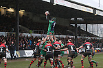 Connacht lock Aly Muldowney takes the line out ball.<br /> Guiness Pro12<br /> Gwent Dragons v Connacht<br /> Rodney Parade<br /> 22.02.15<br /> ©Steve Pope -SPORTINGWALES