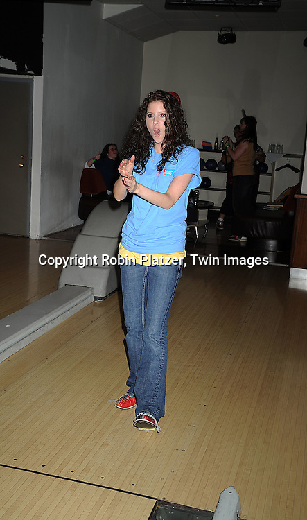 "Brittany Underwood..at The Fifth Annual ""Daytime Stars and Strikes"" for The American Cancer Society on September 28, 2008 at The Port Authority Bowling Alley. Jerry verDorn and Liz Keifer were the hosts. ....Robin Platzer, Twin Images"