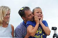 FIERLJEPPEN: IJLST: 06-08-2016, FK Fierleppen Jeugd, winnares Maureen Westerhof (Sneek) meisjes tot 10 jaar met 7.61m, ©foto Martin de Jong