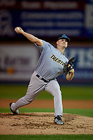 Trenton Thunder starting pitcher Clarke Schmidt (21) during an Eastern League game against the Reading Fightin Phils on August 16, 2019 at FirstEnergy Stadium in Reading, Pennsylvania.  Trenton defeated Reading 7-5.  (Mike Janes/Four Seam Images)