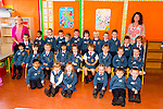 The junior infants starting at Scoil Eoin Balloonagh pictured on their first day of school last Thursday with their teacher Miss Fiona Sheehan (right) and Lillian Culhane (left). Back row: Lilian Culinane (classroom assistant), Karolina Taranta-Sova, Avrodeep Biswas, Thomas Evans, Lorik Cendia, Ryan Bailey-Kelliher, Ryan O'Flaherty, Conor Murphy, Danny Lane, Tom Dawson, Philip Moriarty, Reece Mullen, Aoibhinn O'Brien. Middle row: Meng Yi Ni, Chloe O'Donoghue, Jessica Wright, Yin Jun Chen, Alice O' Connor, Clodagh Morris, Iza Cuar O'Connor, Grace Bright, Holly Pierce. Front Row: Aayan Rana, Diana Ciuprinikova, Rachel Ahern, Cori Boylan, Ryan Moriarty, Thomas Dennehy.