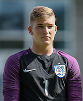 Goalkeeper Will Mannion (Hull City) of England U19 during the International match between England U19 and Netherlands U19 at New Bucks Head, Telford, England on 1 September 2016. Photo by Andy Rowland.