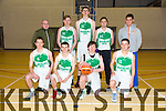 St. Brendan's Tralee basketball Team  Front l-r Anthony Craig, Rhys Barry, Nathan Roche, Liam O'Sullivan.  Back l-r Gareth Moore, Tommy Sheehy, Kean Sullivan, Fergal O'Sullivan, Rory Doyle  at the Div.1 cup match against Gneeveguilla at Moyderwell sports hall on Thurday