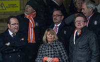 Luton Town CEO Gary Sweet (2nd row, Centre) during the Sky Bet League 2 match between Wycombe Wanderers and Luton Town at Adams Park, High Wycombe, England on 6 February 2016. Photo by Andy Rowland.