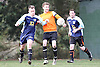 Creekmore Lions (orange shirts) vs  Lovitt FC (Blue shirts)..Creekmore lions 2 - Lovitt 2 in Division 2 top of the table clash, at the king george playing fields 22-01-12.
