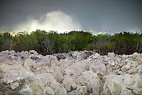 """Coral Pinnacles on Topside. The smoke in the distance comes from the Phosphate Plant, processing Phosphate...The area known as """"Topside"""" is the central plateau where all the Phosphate strip mining takes place. It is exploited by a government-owned company known as the Republic of Nauru Phosphate, or RONPhos. Although the initial layer of phosphate has been mined out (approximately 100 million tons), a secondary level of phosphate is now being mined, holding nearly 20 million tons of minable ressources. RONPhos developed plans starting in 2005 for their economical extraction. They are also cutting and crushing into pebbles the coral pinnacles that are dug out, following the phosphate mining. The pebbles are then sold to other Pacific islands as construction material. The cutting of pinnacles allows Nauru to recuperate flat ground on TopSide, part of the rehabilitation effort...Nauru, officially the Republic of Nauru is an island nation in Micronesia in the South Pacific.  Nauru was declared independent in 1968 and it is the world's smallest independent republic, covering just 21square kilometers..Nauru is a phosphate rock island and its economy depends almost entirely on the phosphate deposits that originate from the droppings of sea birds. Following its exploitation it briefly boasted the highest per-capita income enjoyed by any sovereign state in the world during the late 1960s and early 1970s..In the 1990s, when the phosphate reserves were partly exhausted the government resorted to unusual measures. Nauru briefly became a tax haven and illegal money laundering centre. From 2001 to 2008, it accepted aid from the Australian government in exchange for housing a Nauru detention centre, with refugees from various countries including Afghanistan and Iraq..Most necessities are imported on the island..Nauru has parliamentary system of government. It had 17 changes of administration between 1989 and 2003. In December 2007, former weight lifting medallist Marcus Stephen"""