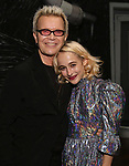 "Billy Idol and Sophia Anne Caruso backstage at ""Beetlejuice The Musical"" on Broadway at the Winter Garden Theatre on July 30, 2019 in New York City."