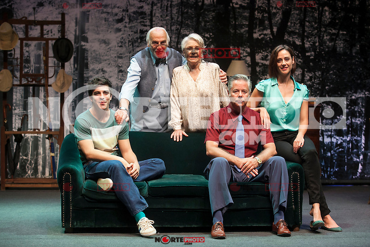 Spanish actresses Lola Herrera and Luz Valdenebro and actors Hector Alterio, Camilo Rodriguez and Adrian Lamana perform during `El lago dorado´ theater play in Madrid, Spain. August 17, 2015. (ALTERPHOTOS/Victor Blanco)