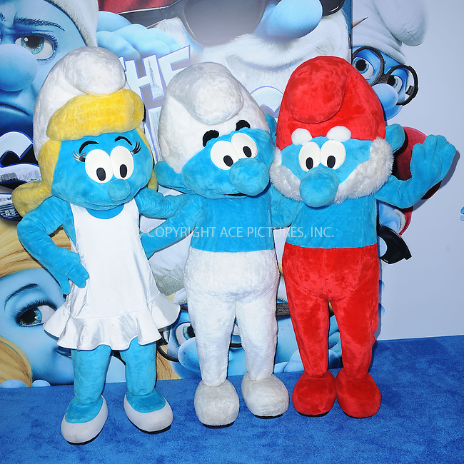 WWW.ACEPIXS.COM . . . . . .July 24, 2011...New York City....Smurfs attends the premiere of 'The Smurfs' at the Ziegfeld Theater on July 24, 2011 in New York City....Please byline: KRISTIN CALLAHAN - ACEPIXS.COM.. . . . . . ..Ace Pictures, Inc: ..tel: (212) 243 8787 or (646) 769 0430..e-mail: info@acepixs.com..web: http://www.acepixs.com .