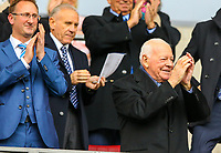 Wigan Athletic owner Dave Whelan gets an applause as he takes his seat<br /> <br /> Photographer Alex Dodd/CameraSport<br /> <br /> The EFL Sky Bet Championship - Wigan Athletic v Leeds United - Sunday 4th November 2018 - DW Stadium - Wigan<br /> <br /> World Copyright &copy; 2018 CameraSport. All rights reserved. 43 Linden Ave. Countesthorpe. Leicester. England. LE8 5PG - Tel: +44 (0) 116 277 4147 - admin@camerasport.com - www.camerasport.com
