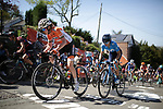 Race favourite Anna Van Der Breggen (NED) Boels Dolmans Cycling Team climbs the brutal Mur de Huy during La Fleche Wallonne Femmes 2018 running 118.5km from Huy to Huy, Belgium. 18/04/2018.<br /> Picture: ASO/Thomas Maheux | Cyclefile.<br /> <br /> All photos usage must carry mandatory copyright credit (© Cyclefile | ASO/Thomas Maheux)