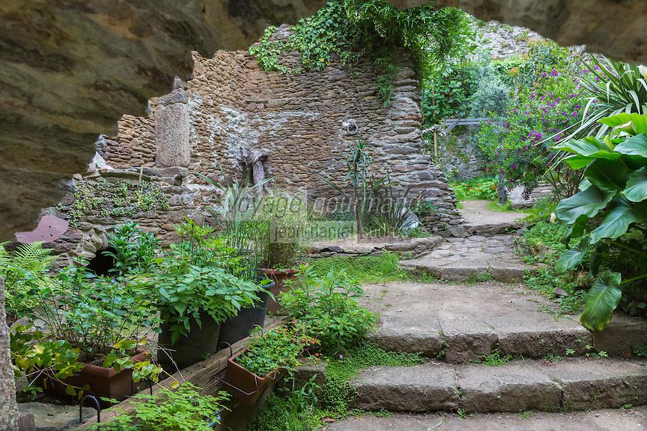France, Bretagne, (29), Finistère, Brest:  La rue Saint-Malo dans le vallon du Pontaniou dans le quartier de Recouvrance - Le jardin Raymond Novion