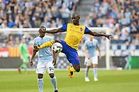 Kansas City, Kansas - April 9, 2017: Sporting Kansas City defeated the Colorado Rapids 3-1 in MLS action at Children's Mercy Park.