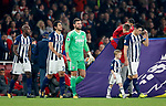 West Brom's Gareth Barry leads his sides out as captain to get the all time leading appearance Premier League record during the premier league match at the Emirates Stadium, London. Picture date 25th September 2017. Picture credit should read: David Klein/Sportimage