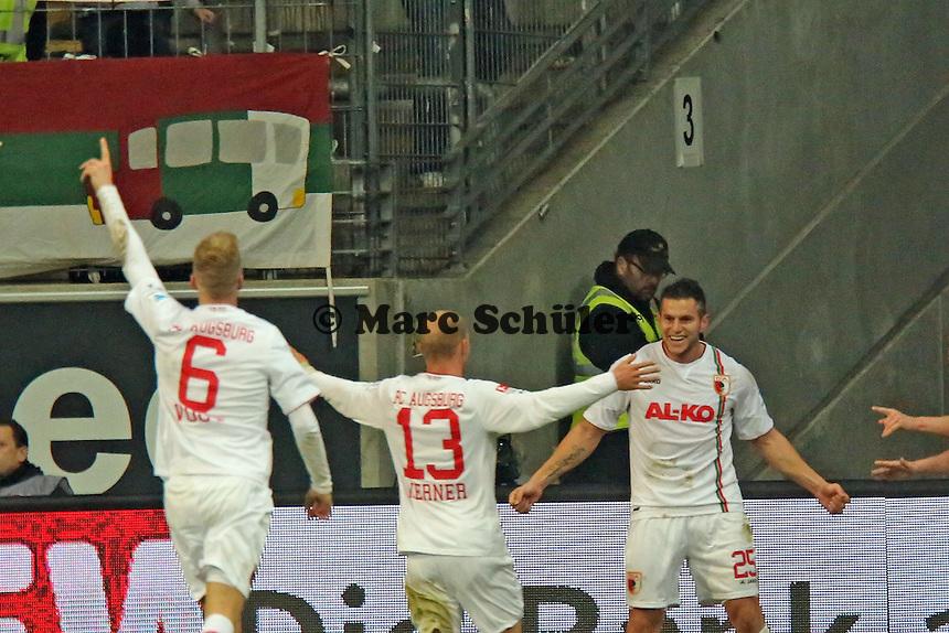 Torjubel um Raul Bobadilla (Augsburg) beim 0:1- Eintracht Frankfurt vs. FC Augsburg