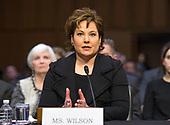 Christine S. Wilson testifies before the United States Senate Committee on Commerce, Science, and Transportation on her nomination to be a member of the Federal Trade Commission (FTC) on Capitol Hill in Washington, DC on Wednesday, February 14, 2018.<br /> Credit: Ron Sachs / CNP