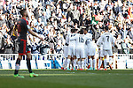 Real Madrid´s Pepe celebrates a goal during 2015/16 La Liga match between Real Madrid and Celta de Vigo at Santiago Bernabeu stadium in Madrid, Spain. March 05, 2016. (ALTERPHOTOS/Victor Blanco)