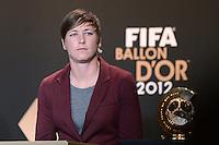 Fussball International  FIFA Ballon d Or / Weltfussballerin 2012    Pressekonferenz   07.01.2013 Abby Wambach (USA)