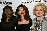 Debbi Morgan & Susan Lucci & Agnes Nixon - All My Children at 40 celebrate on January 10, 2010 at the New York Times Arts & Leisure Weekend at the TimesCenter Stage, New York City, New York. (Photo by Sue Coflin/Max Photos)