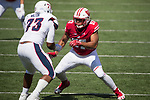 Wisconsin Badgers defensive lineman Alec James (57) during an NCAA College Football game against the Florida Atlantic Owls Saturday, September 9, 2017, in Madison, Wis. The Badgers won 31-14. (Photo by David Stluka)