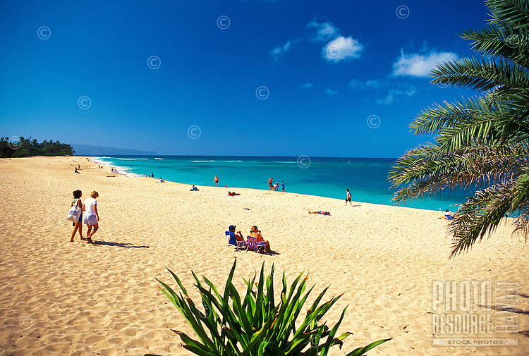 Famous Sunset Beach, locacted on the north shore of Oahu, is a favorite beach to relax the day away. Also a popular surfing destination during the winter months.