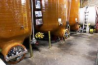 Domaine Terres Georges. In Castelnau d'Aude. Minervois. Languedoc. Fibreglass vats. France. Europe.
